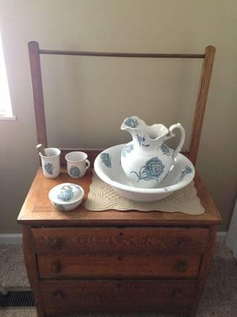 Antique Bowl Amp Pitcher Washstand For Sale In Ashland
