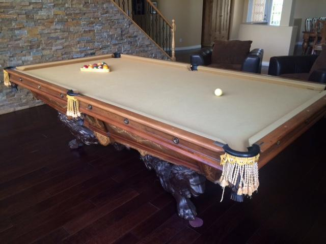 Antique Brunswick Balke Collender Monarch Pool Table For Sale In Las - Monarch pool table