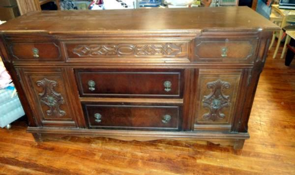 Antique buffet or sideboard by angeles furniture co for