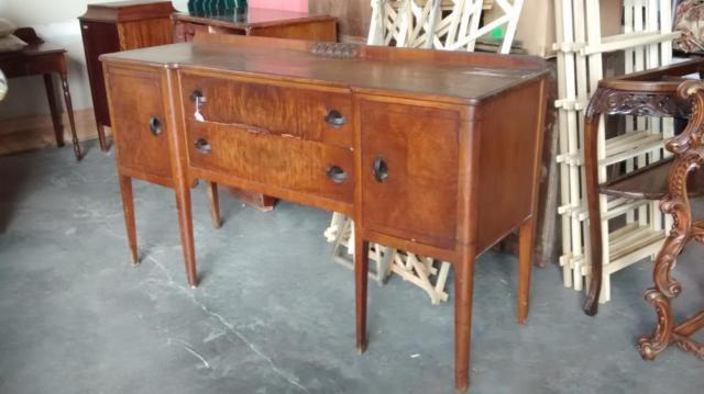 ANTIQUE BUFFET SIDEBOARD DARK FINISH