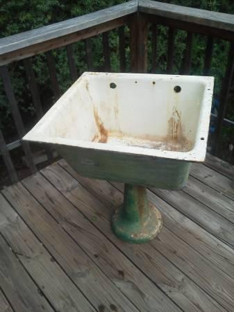 Antique Cast Iron Laundry/utility Sink   $150