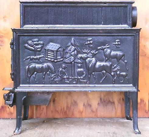 Antique, Cast Iron Wood Stove - $450