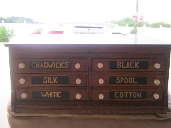 Antique Chadwicks Thread Spool Cabinet - $325