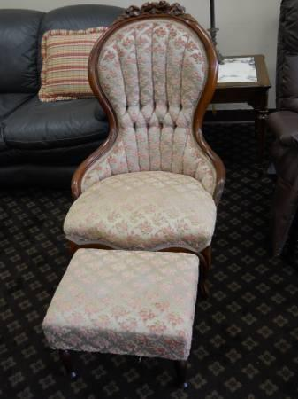 Antique Chair And Foot Stool For Sale In Pensacola Florida Classified