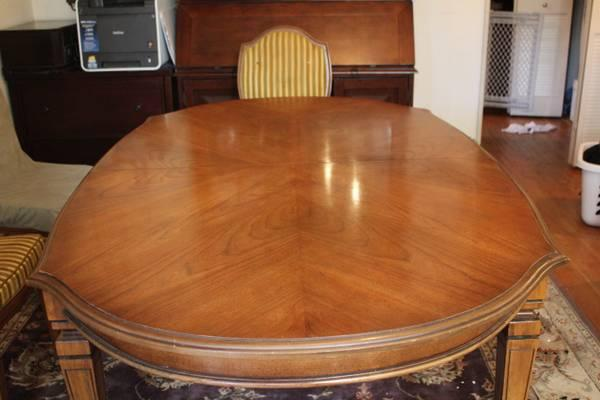 Antique Cherry Formal Dining Room Set W 6 Chairs Xtra Leaf
