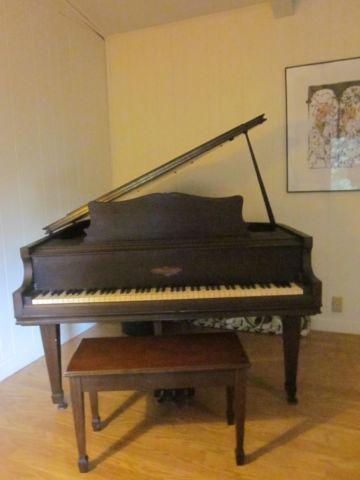 Antique Chickering Baby Grand Piano Excellent Condition