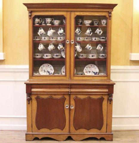 Antique China Cabinet, Mahogany  Oak Welsh Dresser, Hutch. English.