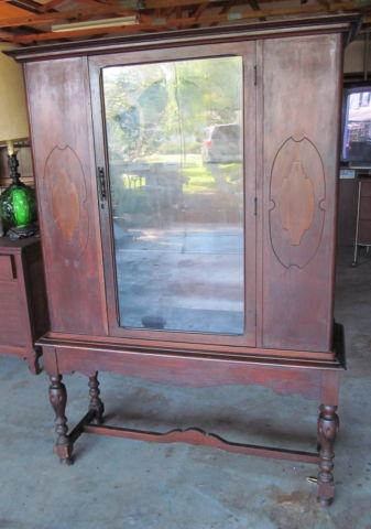 Antique China Cabinet with Glass Door Very Good Condition