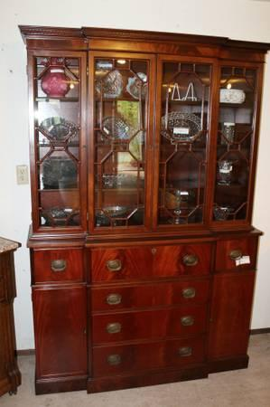 Antique China Hutch And Buffet