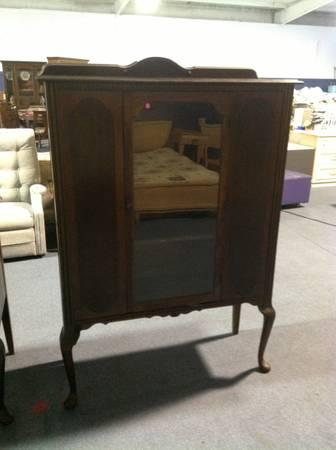 Antique China Hutch With Matching Buffet - $595