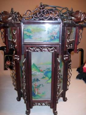 Antique Chinese Carved Hanging Palace Lantern For