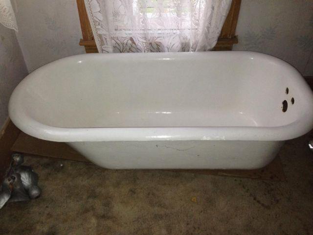 Antique claw foot tub