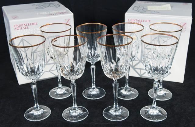Antique Crystal Wine Glasses Best Offer For Sale In San
