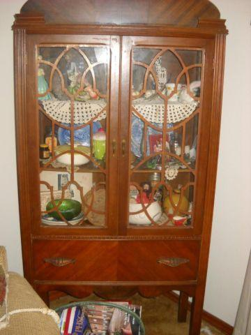 Antique Curio Cabinet Glass Doors Original Hardware China