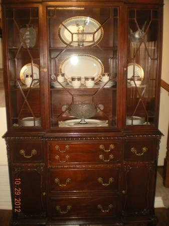 Antique Dark Cherry China Cabinet One Of A Kind