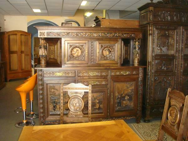 ANTIQUE DINING ROOM SET FROM EARLY 1900s SEE PICS AWESOME SET - $5950