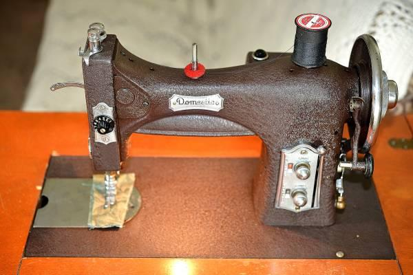 Antique Domestic Rotary Sewing Machine In Cabinet Fully Serviced Inspiration Antique Domestic Sewing Machine