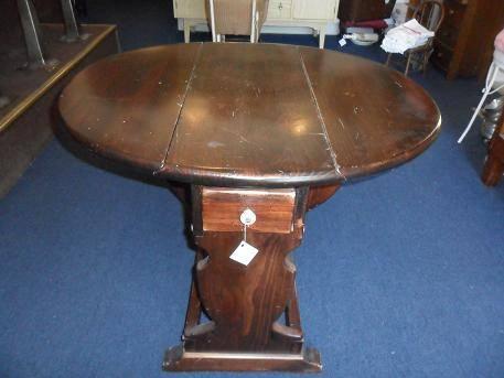 Antique Drop Leaf Side Table For Sale In Aurora Oregon