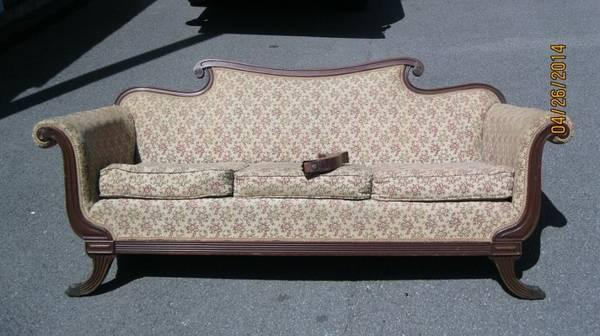 Antique Duncan Phyfe couch - $250