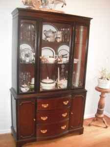 Antique Duncan Phyfe Mahogany China Cabinet Scotts Hill