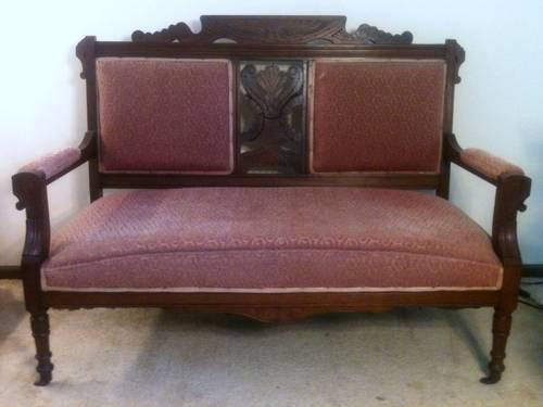 Antique Eastlake Victorian Loveseat Late 1800 S For Sale