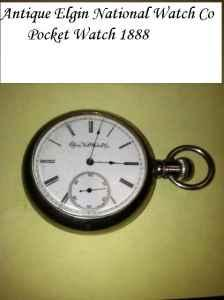 Antique Elgin National Watch Co Pocket Watch 1888 -