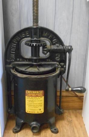 Antique Enterprise 8qt No 35 Lard Press For Sale In