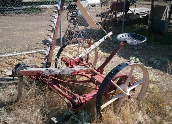 Antique farming equipment yard art squaw valley for for Outdoor tools for sale