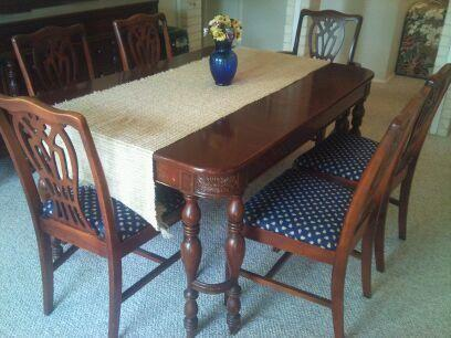 antique finch fine furniture dining room set for sale in live oak