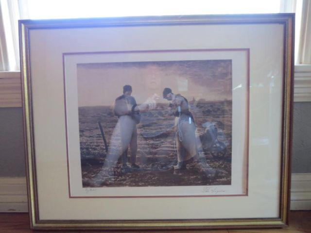 Antique Framed Fine Art Print Sepia Tone Quot The Angelus Quot By