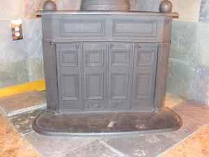 antique franklin wood stove - $400 (steam valley pa)