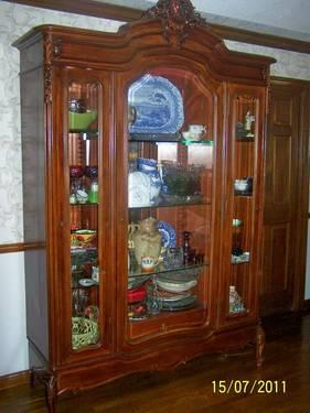 Antique French Armoire China Cabinet For Sale In San