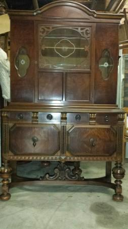 ANTIQUE FULL 10 PIECE DINING ROOM SET Walnut For Sale