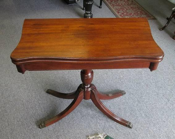 Antique Game or Card Table - $325
