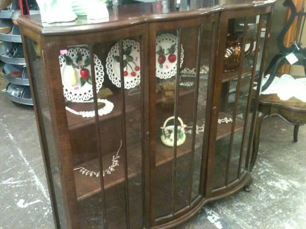 Antique Glass Front Display Cabinet   $245
