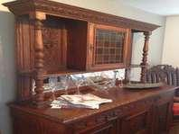Antique Green Man Buffet Hutch