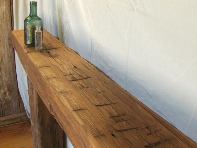 Antique Hand Hewn Barn Beam Fireplace Mantel