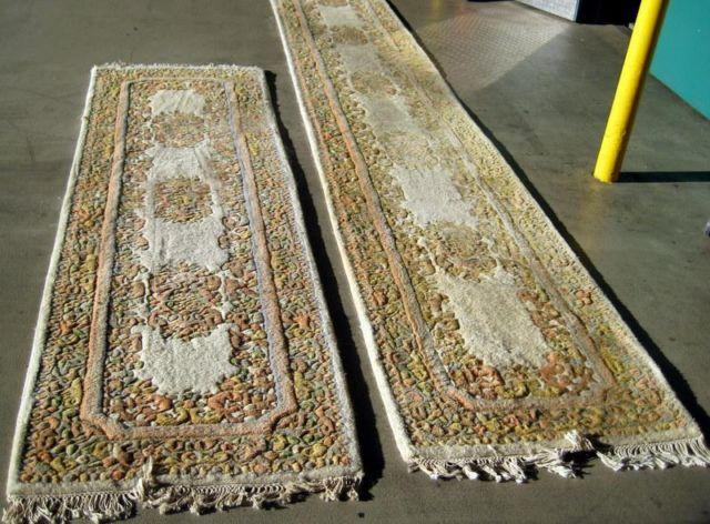 Antique Hand Knotted Wool Hall Rugs Made In India Expressly For