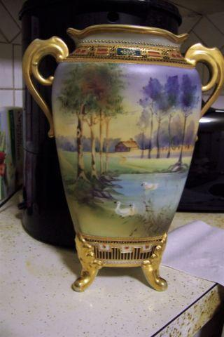 Antique Hand Painted Nippon Urnvase For Sale In Saint Louis
