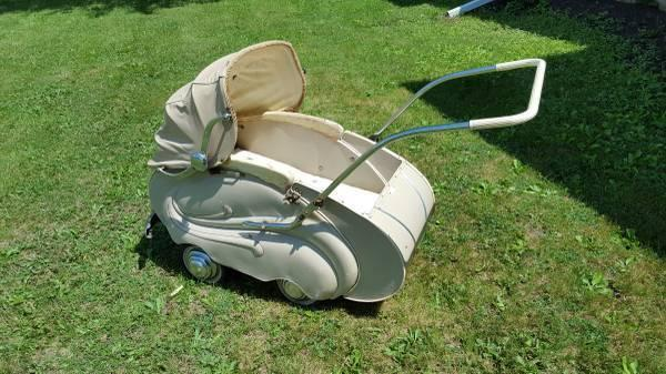 Antique Hecker 1950s Baby Stroller, Carriage, Buggy