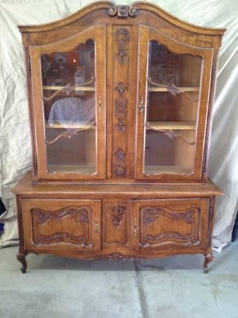 china cabinet for sale antique high boy china cabinet hutch oak glass doors 13548