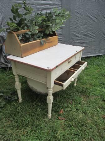 Antique HOOSIER Cabinet, Possum Belly Cabinet,Primitive Porcelain ...