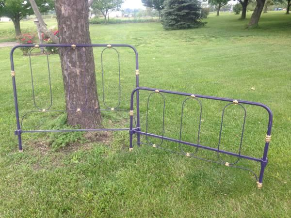 Antique Iron Bed-Head and Foot Board - $75