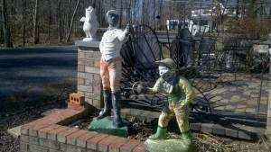 antique jockey statues huntingtown md