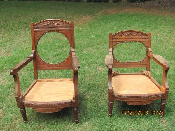 Antique King and Queen Chairs - $325