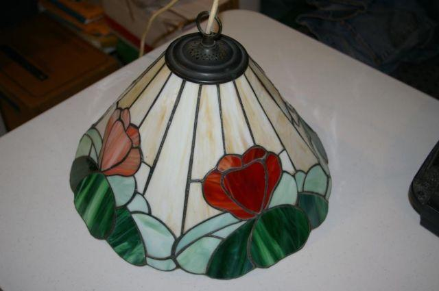 antique leaded stained glass lamp shade from england for sale in. Black Bedroom Furniture Sets. Home Design Ideas
