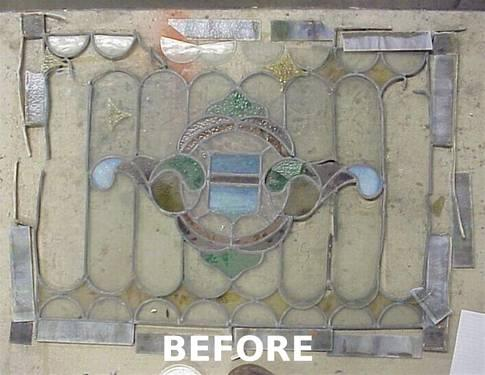 Antique Leaded Stained Glass Windows - Repaired