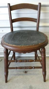 Antique Leather Seat Chair