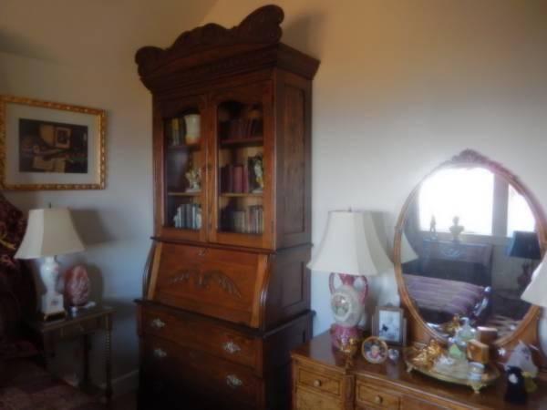 Antique Library Cabinet/Secretary Desk - $1450 - Antique Library Cabinet/Secretary Desk - $1450