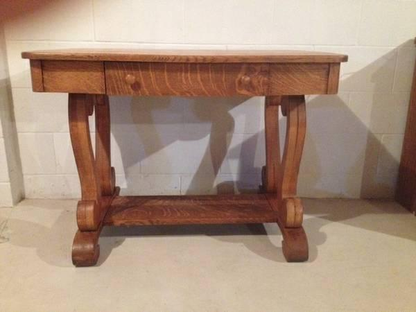 Antique Library Table For Sale In Menomonee Falls